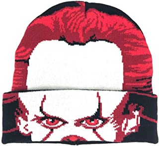 Steven King's IT Pennywise Roll Mask Roll Down Winter Beanie Black