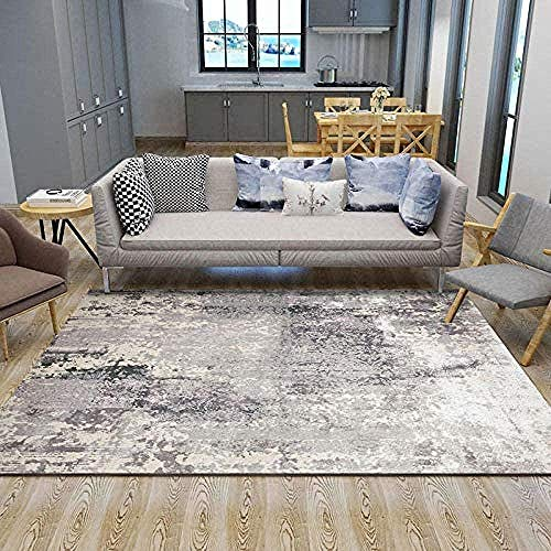 Traditionele Fair tapijten Moderne tapijten Right Stapel Tapijten for slaapkamer verdieping van de eetkamer 7mm dik ImLIession inkt 120x160CM Grijs, Maat: 140x200
