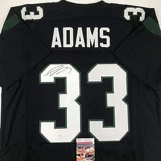Autographed/Signed Jamal Adams New York Black Football Jersey JSA COA