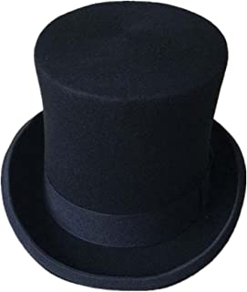 マルマル.モリモリ シルクハット 黒 高級 羊毛 100% 紳士 手品 マジック 帽子 演劇 舞台 衣装 ファッション