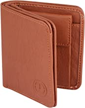 TnW Men's Branded Stylish Artificial Leather Wallet Multi Card Slots and Coin Pocket Perfect Gift for Men (Tan)