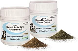 Vetnex Natural Dental Care Plaque Control Duo-Pack for Dogs (Original+Kangaroo Powders) 2x100g