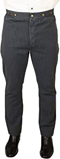 Men's High Waist Edgar Striped Cotton Trousers