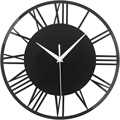 Amazlife Roman Numbers Wall Clock for Home Decor