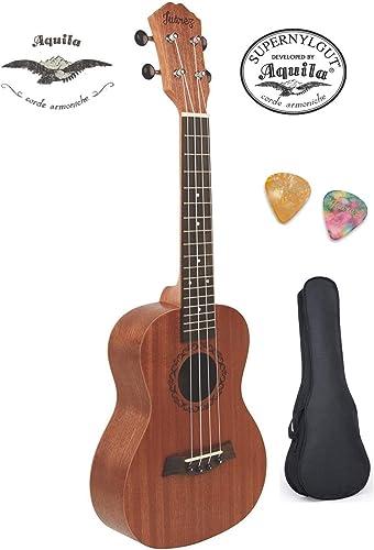 """Juarez JRZ23UK/NA 23"""" Concert Size Ukulele Kit, AQUILA Strings, Sapele Body, Rosewood Fingerboard, Matte Finish, with..."""