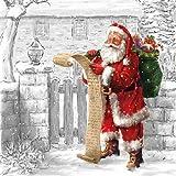 Ambiente Cena Tovaglioli/Partito ca.33x33 Wish List - Christmas - Natale - Iverno - Perfetto Come Regalo e Decorazione da Tavolo
