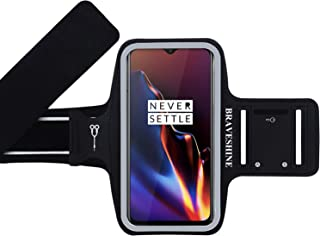 BRAVESHINE Armband for Phone Running Case - Gym Workout Arm Band Phone Armband - Key Earphones Holder Sports Armband for Oneplus 7 Oneplus 6T 6 Oneplus 5T 5 Oneplus 3 3T Screen Up to 6.5 Inch
