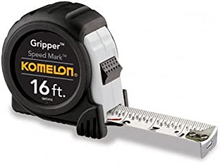 Komelon SM5416 Speed Mark Gripper Acrylic Coated Steel Blade Tape Measure 16-feet by 1-Inch, White (4 Pack)