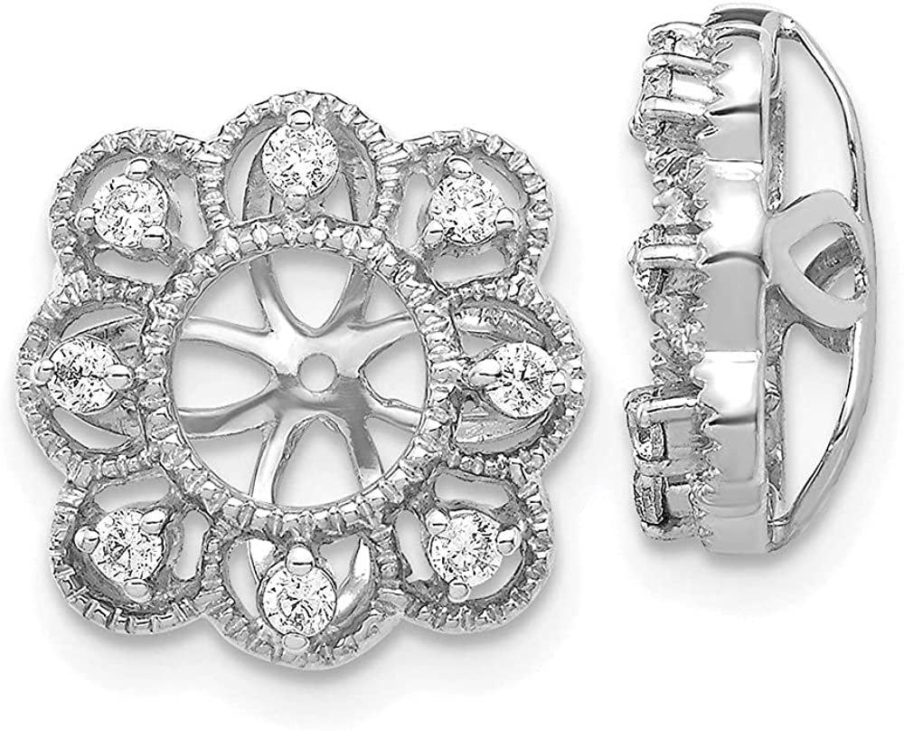 14k White Gold Lab Grown Diamond Earrings Jackets (Clarity- SI1/SI2, Color- G-H)