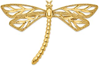 14k Yellow Gold Dragonfly Pin Animal Insect Fine Jewelry Gifts For Women For Her