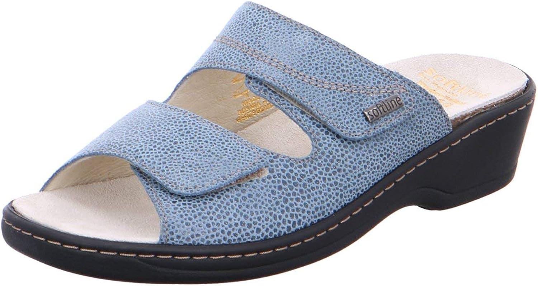 Fidelio Damen Pantoletten Gerti 225001 39 (G) blau 586843