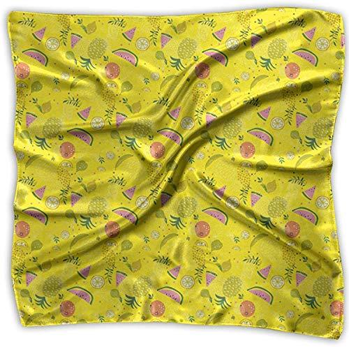 iuitt7rtree Tropische Frucht Kunst in Hawaii Frauen quadratischer Schal Kopfschmuck Mehrzweck-Mode Schals
