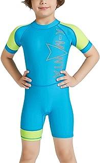 【Tubame-JP】 キッズ 水着 吸汗速乾 子供用潜水服 水陸両用 日焼け防止 男女用 潜水服 伸縮性あり 海水浴 温泉 (2-12歳)