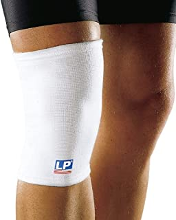 LP Support 601 Elasticated Knee Support, White