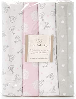 Koala Baby 4-Pack Flannel Receiving Blankets