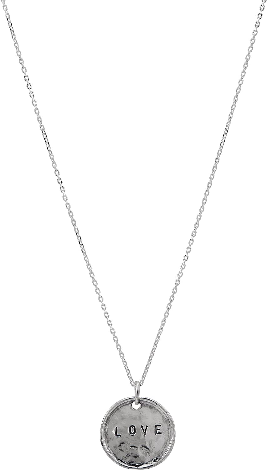Silpada 'Love Message' Heart Disc Necklace S in Pendant Max 63% OFF Max 87% OFF Sterling