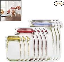 Iswell Bolsas de alimentos reutilizables de silicona Bolsa de almacenamiento port/átil Bolsa Ziplock Bolsa de sellado transparente transparente a prueba de humedad Bolsas