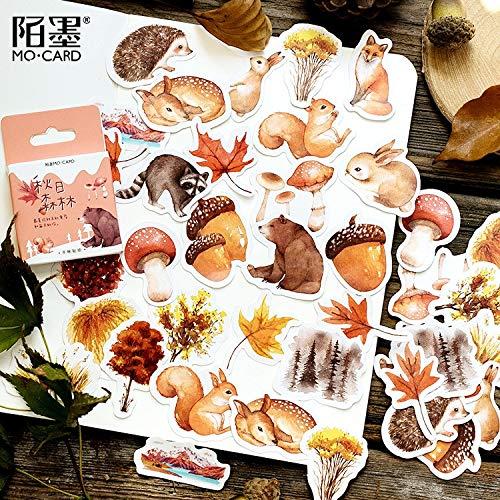 BLOUR 46 unids/Lote Pegatinas de Bebidas de café Vintage Diario Pegatinas de papelería Decorativas planificador Manualidades DIY Scrapbooking Pegatinas de Diario