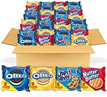 OREO Original, OREO Golden, CHIPS AHOY! & Nutter Butter Cookie Snacks Variety Pack, Halloween Treats, 56 Snack Packs (2...