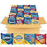 This bulk variety package contains 56 snack packs: 14 each of OREO Chocolate Sandwich Cookies, OREO Golden Sandwich Cookies, CHIPS AHOY! Chocolate Chip Cookies, and Nutter Butter Sandwich Cookies. These treats are iconic There's nothing like cream wi...