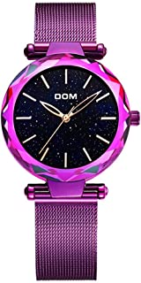 33mm Stainless Steel Mesh Belt Fashion Waterproof Holiday Gift 3ATM Students Rose Gold Black Purple Woman Girl Lady Simple Starry Sky 10.5mm Quartz Watch