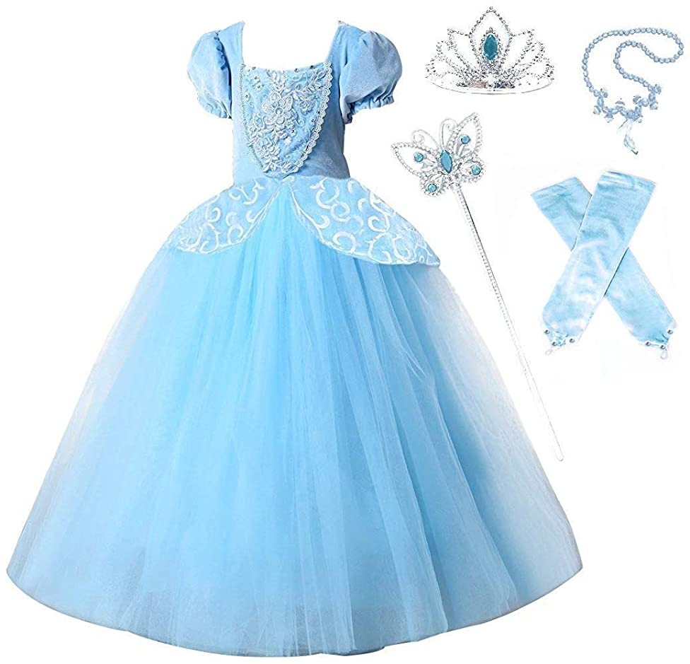Romy's Collection Princess Cinderella Special Edition Blue Party Deluxe Costume Dress-Up Set