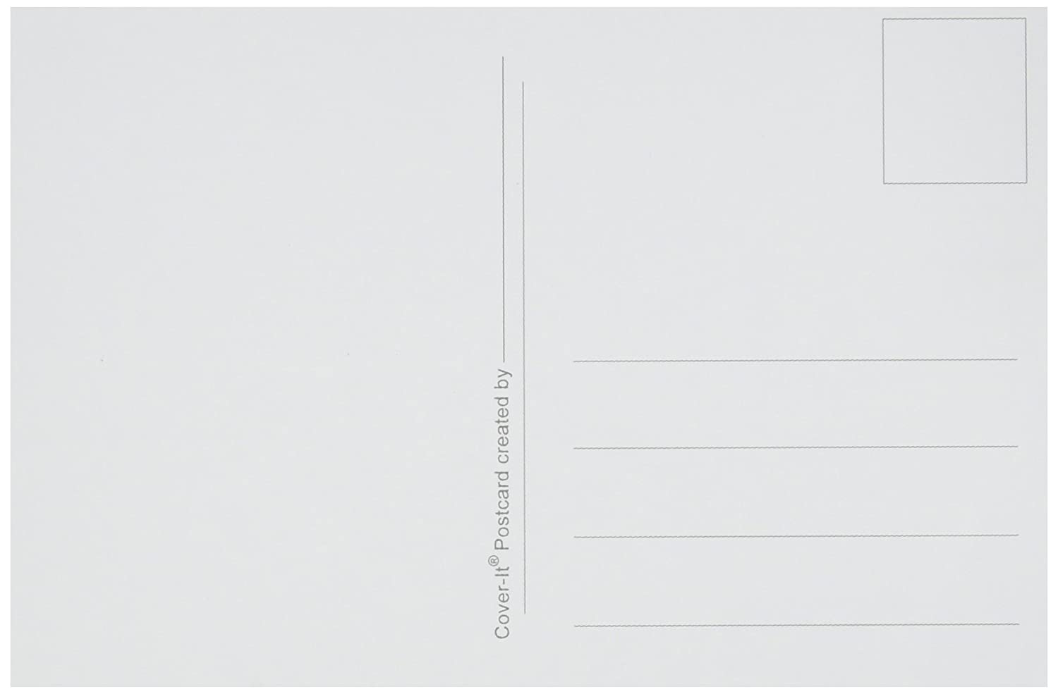 Cover-It Heavy Weight Blank Postcards Max 67% OFF 4 6 Inches Pack x gift White