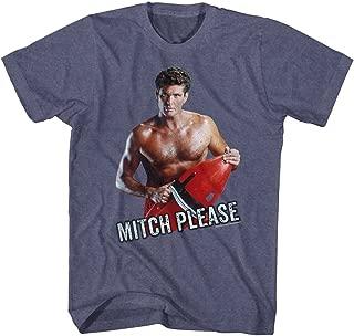 Baywatch 90s Drama Beach Patrol Lifeguard Serious Mitch Please Adult T-Shirt Tee