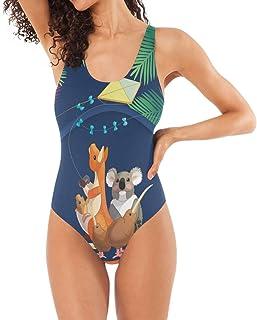 熱帯動物 植物 カンガルー ナマケモノ ビキニ レディース 水着 wimwear 女性用 体型カバー タンキニ セクシー ファッション 三角ビキニ 女性 水泳ビーチウエア S/M/L/XL