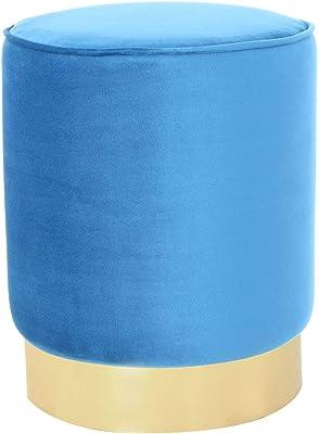 One Couture Tabouret, Dentelle, Bleu, 35cm x 35cm x 43cm