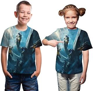 Boys 3D Monsters t Shirt Children t-Shirt Kids Boys Shirts Funny Kids Short Sleeve Tops tee Blue