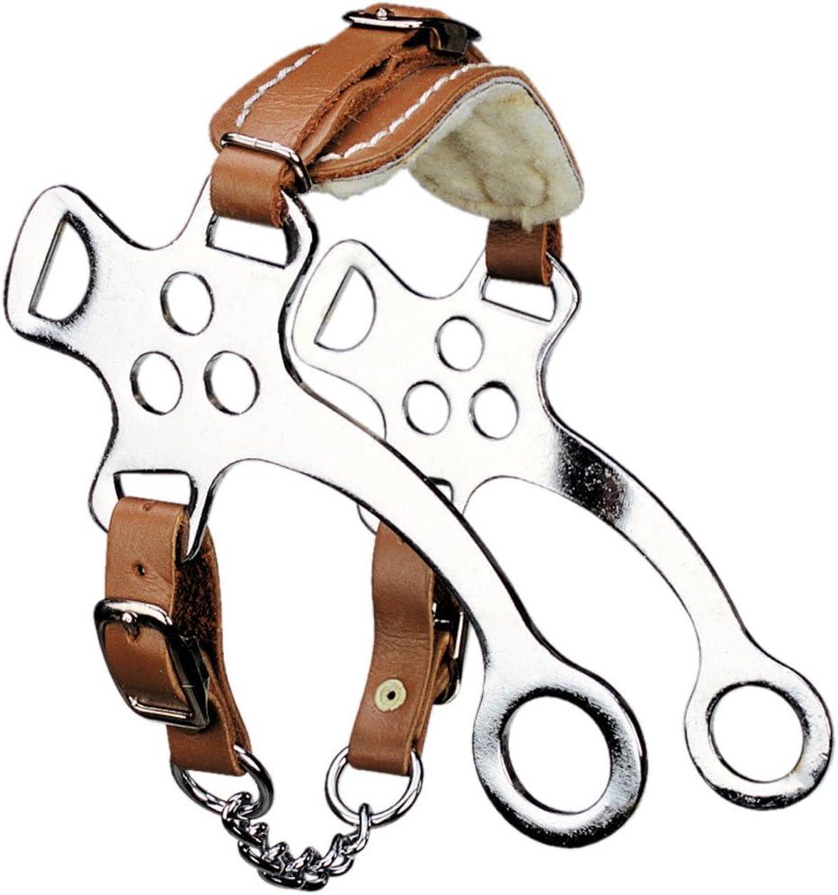 Pony hackamore con piel sintética cubierto con trajes corta, nariz correa de piel