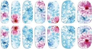 CAOLATOR 3Pcs Pegatinas de Uñas de Simple de Art Flores Moda Línea de Manicura Calcomanías Uña DIY Accesorios Para Uso Profesional o en el Hogar (Azul claro)