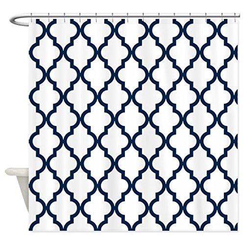 eikleom Navy Blau marokkanischen Muster, inverte Duschvorhang, 180x 180cm wasserdicht Polyester