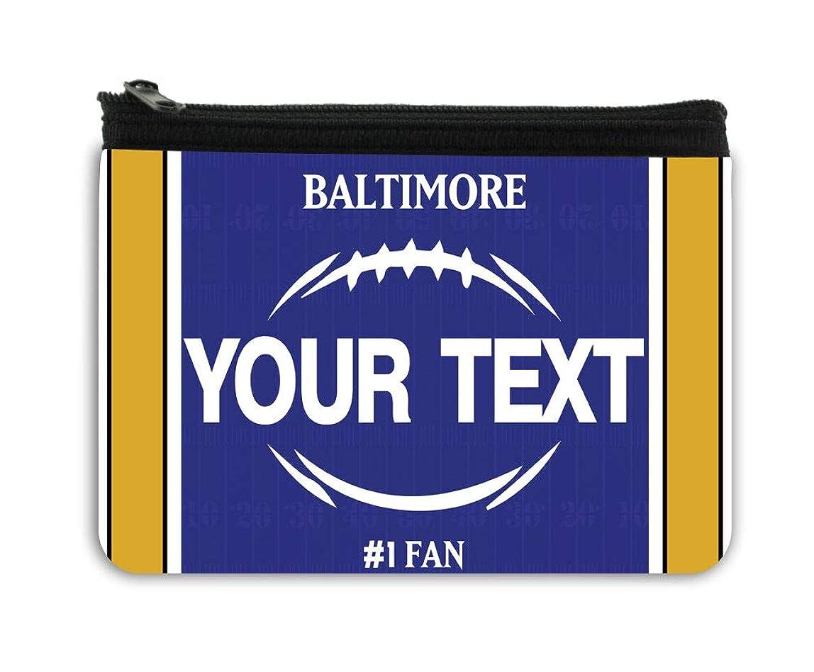 BRGiftShop Personalized Custom Name Football Team Baltimore Neoprene Coin Purse bdzhlvl046444