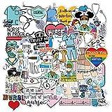 50pcs Nurse Stickers Angle Nursing Sticker Waterproof Decals for Water Bottles, Laptop, Phone, Car, Skateboard, Guitar - Support Nurses Stickers Pack