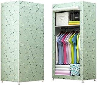 Combinaison simple d'assemblage de garde-robe en tissu épais à cadre en acier épais,armoire simple moderne,combinaison san...