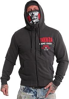 Yakuza Sudadera con capucha y cremallera para hombre, diseño de Game Over Ninja