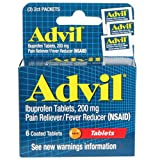 Advil Tablets, Travel Size - 6-ct. Packs (Set of 2)