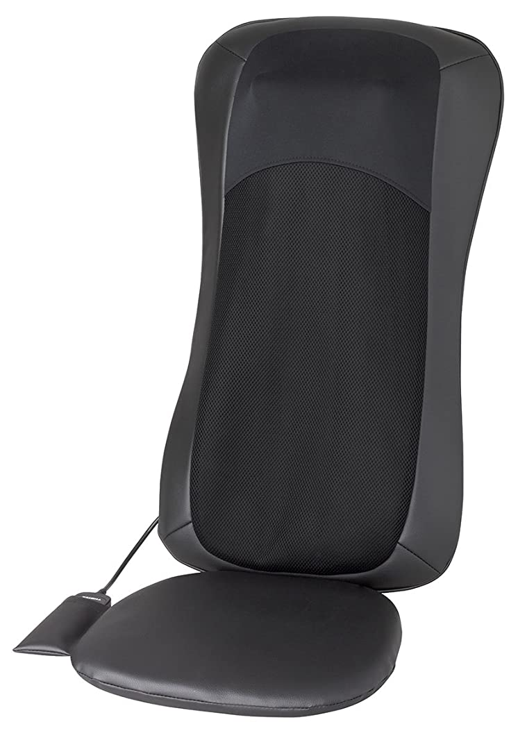 ベスビオ山焦がす乱気流スライヴ シートマッサージャー 「横回転もみ玉?もみたたき機能搭載」 ブラック MD-8660 BK
