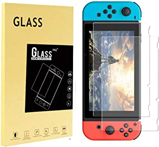 Screen Protector Tempered Glass for Nintendo Switch, iVoler Transparent HD Clear Anti-Scratch Screen Protector Compatible ...