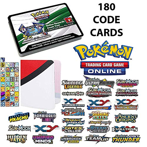 Totem World 180 Pokemon Online Code Cards from GX, XY, EX, Sun and...