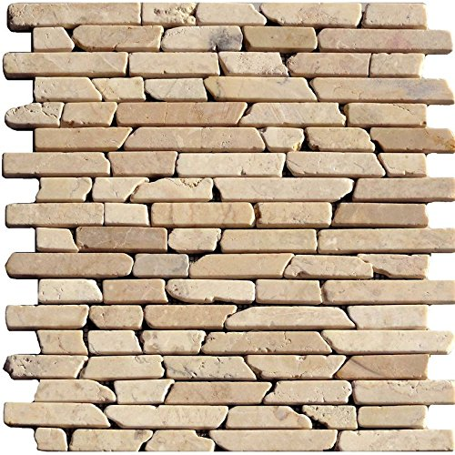 1rete Natura pietra mosaico LB Sahara Giallo marmo Kalk stien