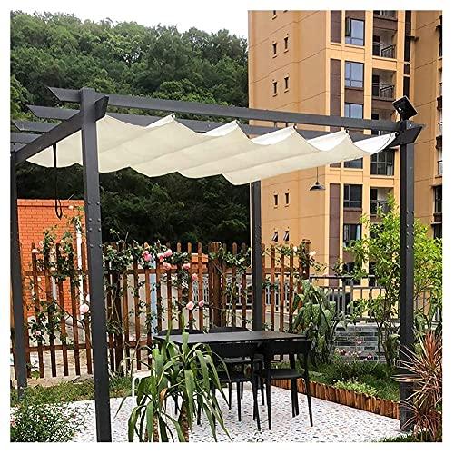 XJJUN Persianas Onduladas, Tela Transpirable Ajustable, 90% De Resistencia A Los Rayos UV, Refrigeración con Aislamiento, para Pérgola De Jardín Y Patio (Color : Beige, Size : 1.2x6m)