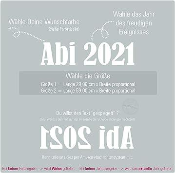 Sunnywall Abi 2019 2020 2021 2022 Autotattoo Heckscheibe Aufkleber Größe Größe 2 Küche Haushalt
