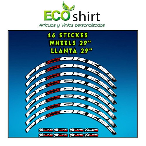 Ecoshirt 2Y-8HVR-QLAQ Pegatinas Stickers Llanta Rim Progress Xcd EVO 29' Am44 MTB Downhill