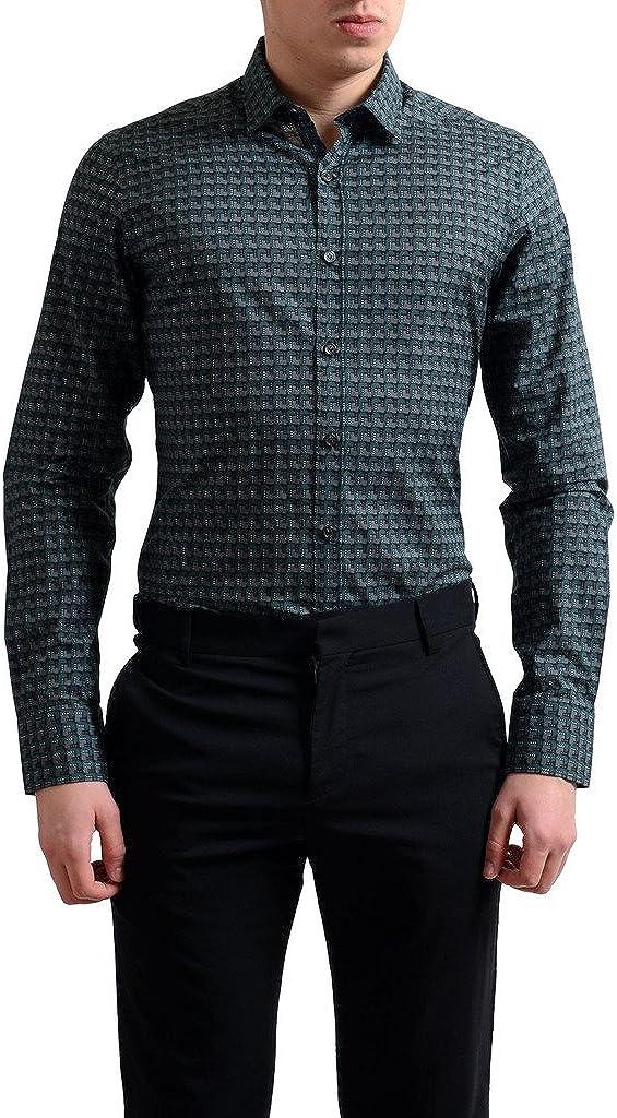 LANVIN Men's Multi-Color Button Down Dress Shirt