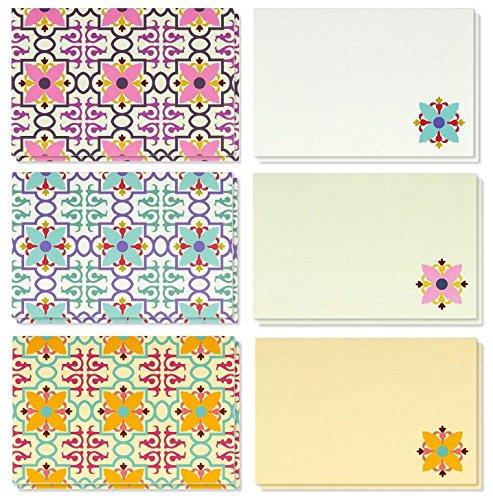 Paquete 48 tarjetas felicitación blanco vintage todas