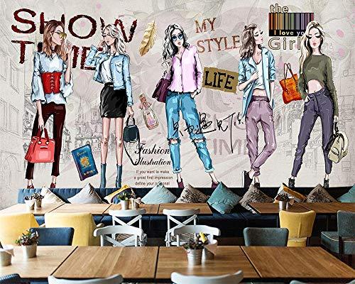 Nomte Behang Handbeschilderde Cosmetica Kleding Winkel Gereedschap Achtergrond Woonkamer Slaapkamer Tv Muren 3D Behang 250x175cm