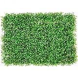 VEVOR Artificiale Pannello da Siepe di Bosso 61x40,6 cm, 10 Pezzi, Siepi Artificiali, Recinzione Artificiale Bosso, Edera Finta Effetto Realistico Decorazione Plastica Colore Verde, Spessore da 4 cm